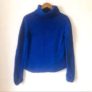 Banana Republic Blue Chunky Turtleneck Sweater M
